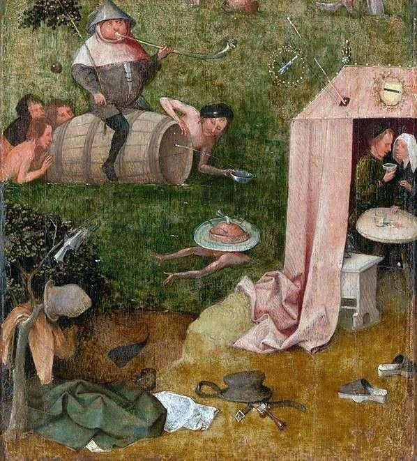 暴食和业余的寓言   Hieronymus Bosch