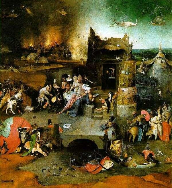 圣安东尼的祭坛。三联画的中心部分   Hieronymus Bosch
