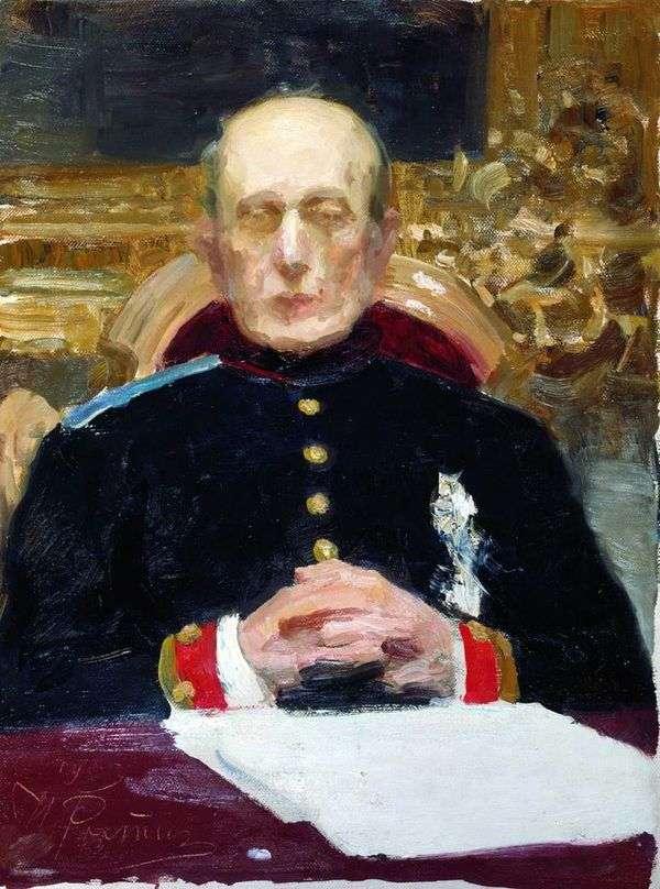 K. P. Pobedonostsev的肖像   伊利亚 列宾