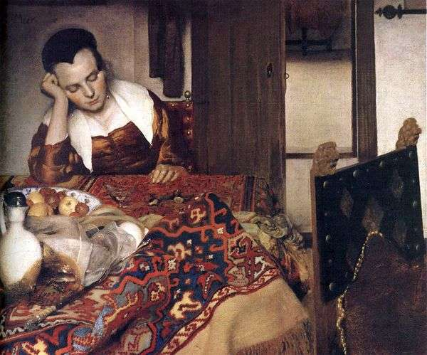 睡觉的女孩   Jan Vermeer