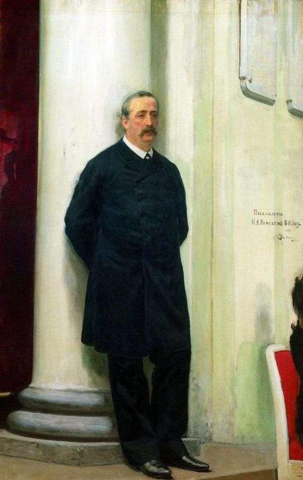 作曲家和化学家Alexander Borodin Porfirievich的肖像   伊利亚 列宾