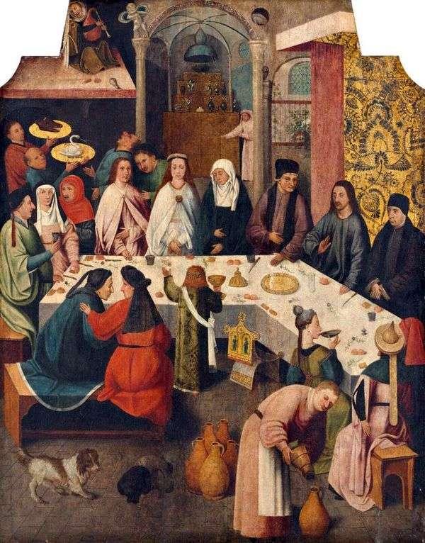 加利利迦拿的婚姻   Hieronymus Bosch