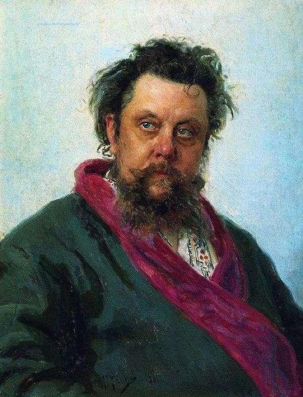 作曲家M. P. Mussorgsky的肖像   伊利亚 列宾