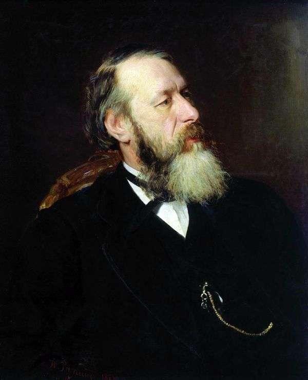 评论家V. V. Stasov的肖像   I. E. Repin
