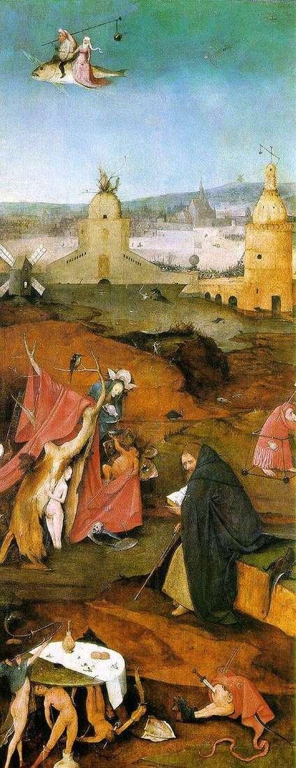 圣安东尼的愿景。祭坛右翼   Hieronymus Bosch
