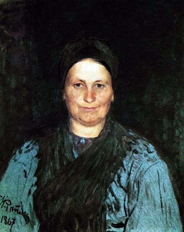 母亲的肖像   伊利亚 列宾