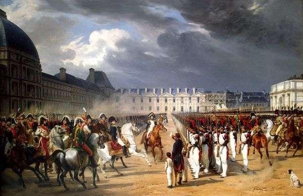在巴黎杜乐丽宫前的卫兵游行中无形请求拿破仑   霍勒斯韦尔内