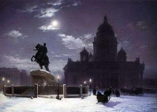 纪念碑的看法对彼得的我在圣彼德堡   瓦西里Surikov