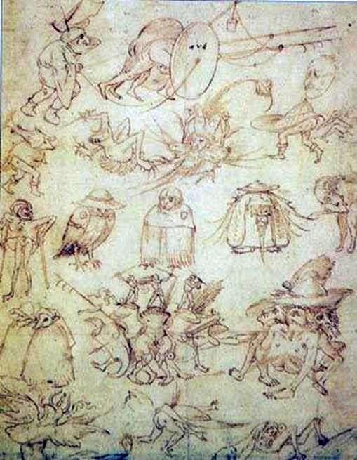 怪诞草图   Hieronymus Bosch