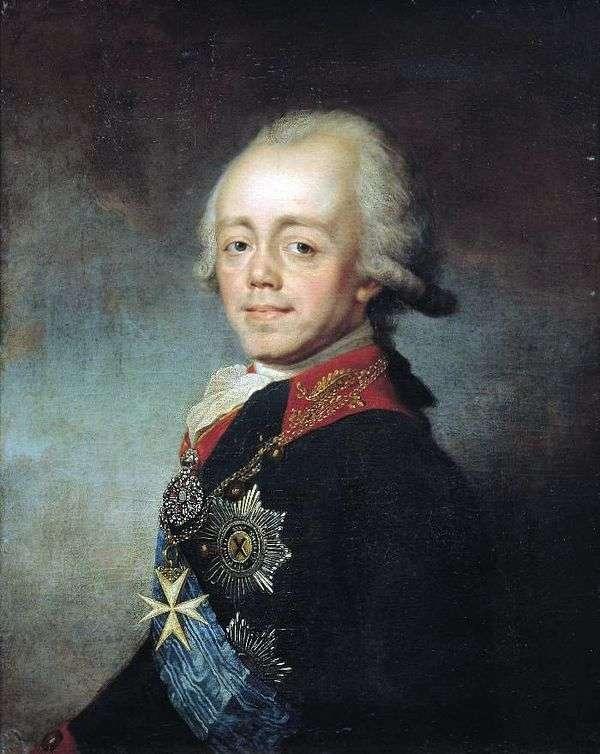 皇帝保罗一世的画像   斯捷潘舒金