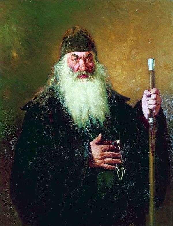 Protodeacon的肖像   伊利亚 列宾