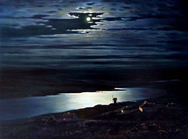 第聂伯河上的月夜   Arkhip Kuindzhi