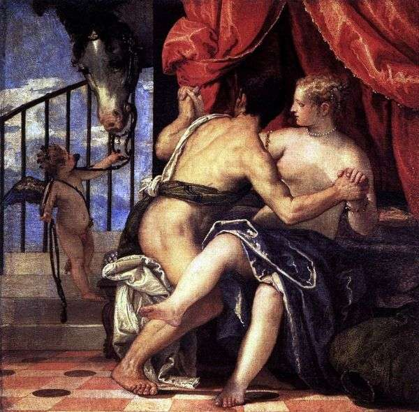 金星和火星与丘比特和马   保罗维罗内塞