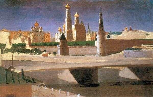 莫斯科。从Zamoskvorechye   Arkhip Kuindzhi的克里姆林宫的看法