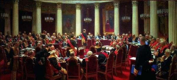 1901年5月7日国务院仪式会议   伊利亚 列宾