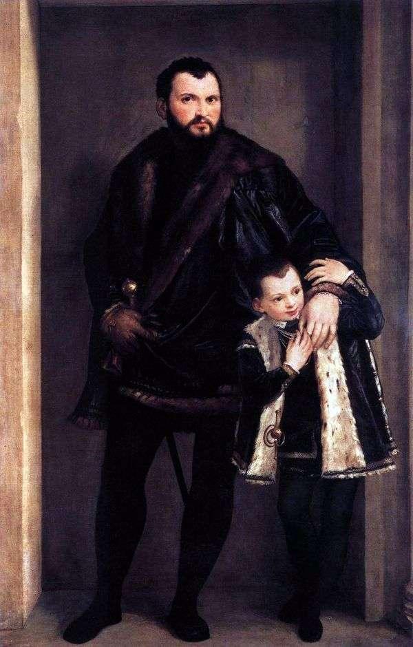 Comte de Porto和他的儿子Adriano   Paolo Veronese