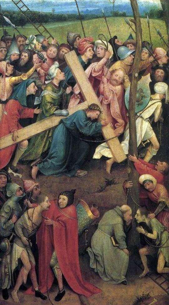 在Cal髅地携带十字架   Hieronymus Bosch