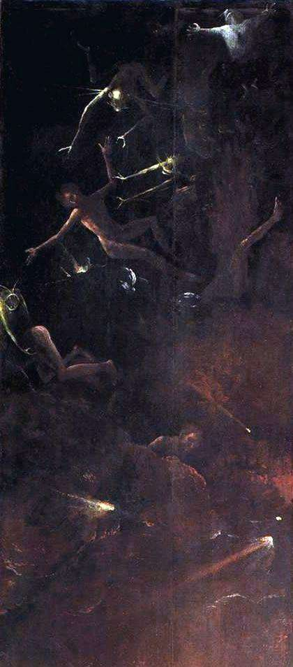 推翻罪人,黑社会的愿景   Hieronymus Bosch