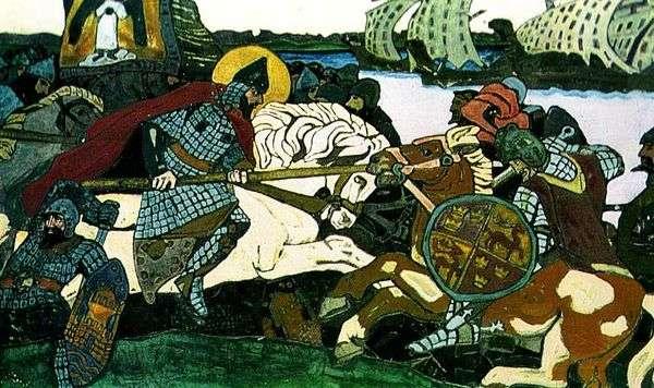 亚历山大 涅夫斯基击败了Jarl Birger   Nikolai Roerich