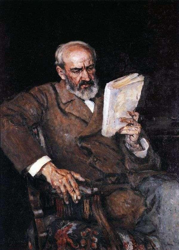 A. E. Yezersky博士的肖像   瓦西里苏里科夫