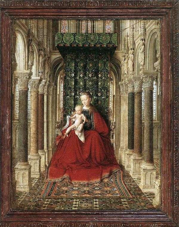 圣母和王子在寺庙的宝座   Jan van Eyck