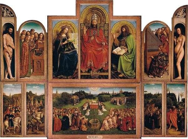 根特祭坛   开放祭坛视图   Jan van Eyck