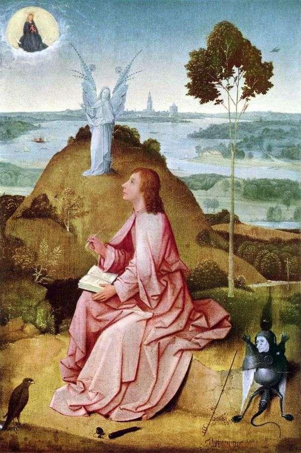 帕特莫斯岛上的圣约翰神学家   Hieronymus Bosch