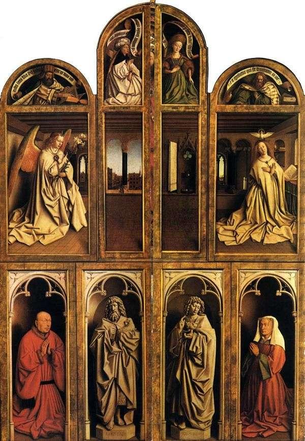 封闭条件下的Gents祭坛   Jan van Eyck