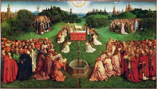 根特祭坛崇拜羔羊   Jan van Eyck