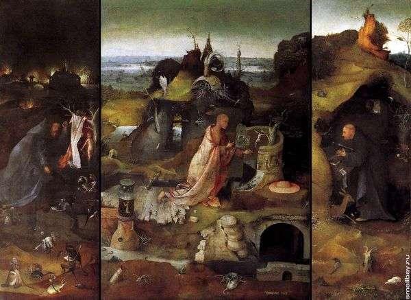 神圣的隐士。三联画   Hieronymus Bosch