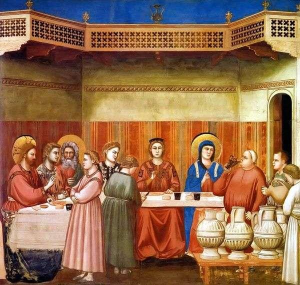 加利利迦拿的婚姻   乔托