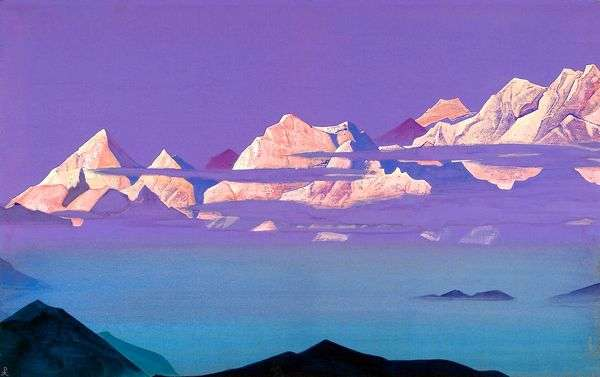 喜马拉雅山脉。粉红山   尼古拉斯罗里奇