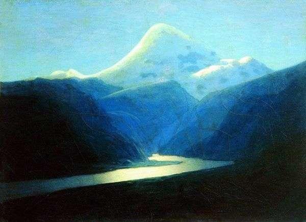 Elbrus在晚上   Arkhip Kuindzhi