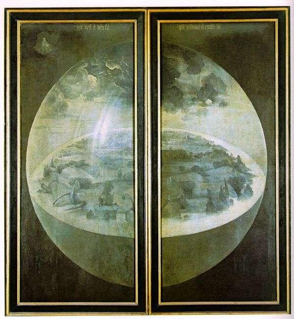 创造世界。三联花园的地球喜悦的外门   Hieronymus Bosch
