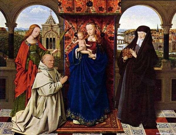 麦当娜与卡尔特会僧侣   扬范范艾克