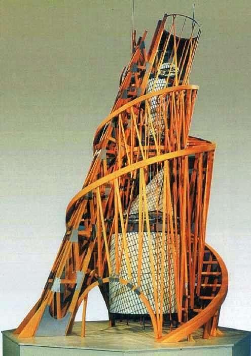 塔。III国际纪念碑的模型   弗拉基米尔Tatlin