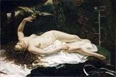 有鹦鹉的妇女   古斯塔夫库尔贝