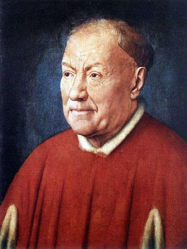 红衣主教NiccolòAlbergati的肖像   Jan van Eyck