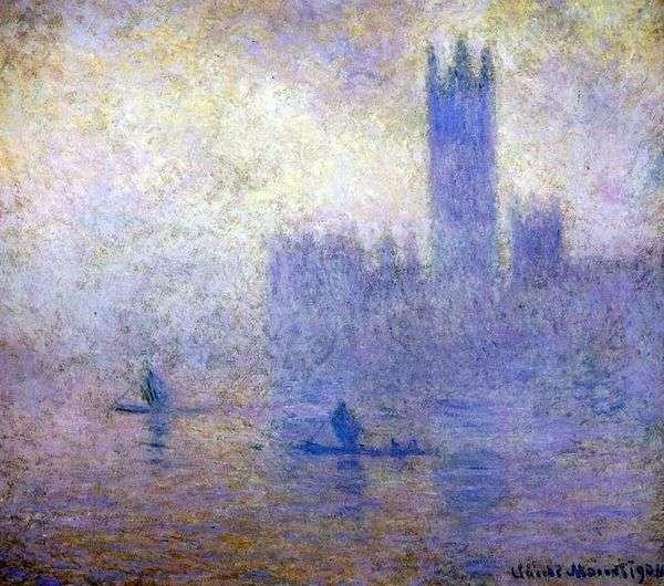 议会大厦在伦敦。雾效果   克劳德莫奈