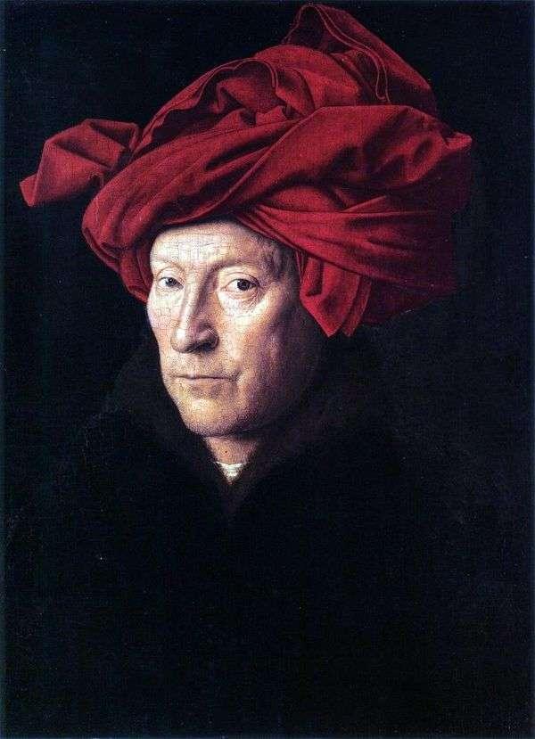 一个人的画象一条红色头巾的   Jan van Eyck