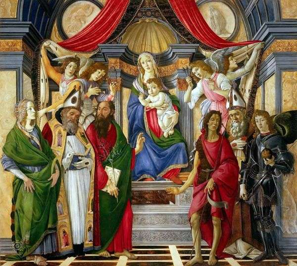 Sts祭坛。巴拿巴   桑德罗波提切利