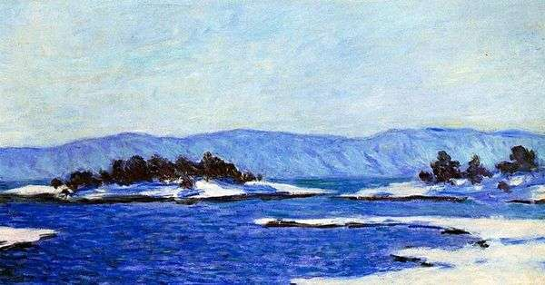 Edge fjorda,Christiania   Claude Monet