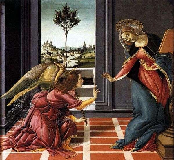 The Annunciation Chestello   Sandro Botticelli
