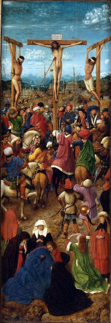 受难。雕刻板。左快门   Jan van Eyck