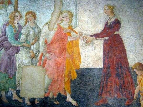 金星和三美让礼物给一个女孩   桑德罗波提切利