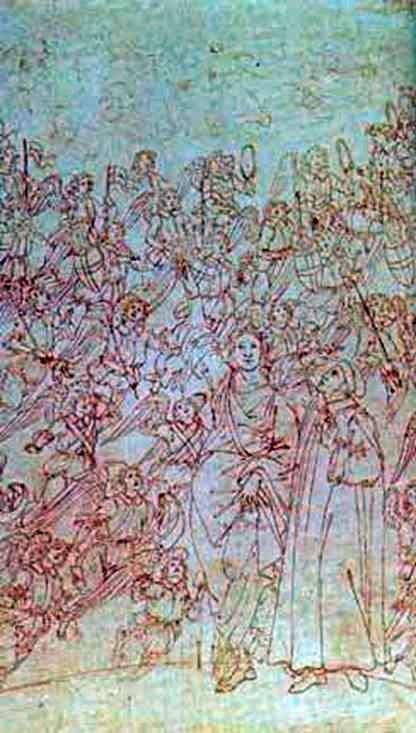 来自The Divine Comedy的Dante和Beatrice   Sandro Botticelli