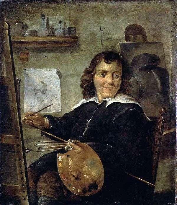画家在他的工作室   大卫特尼尔斯