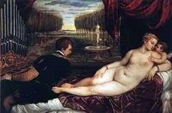 金星与风琴师和丘比特   提香Vecellio