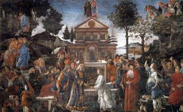 治愈麻风病人和基督的诱惑   桑德罗波提切利