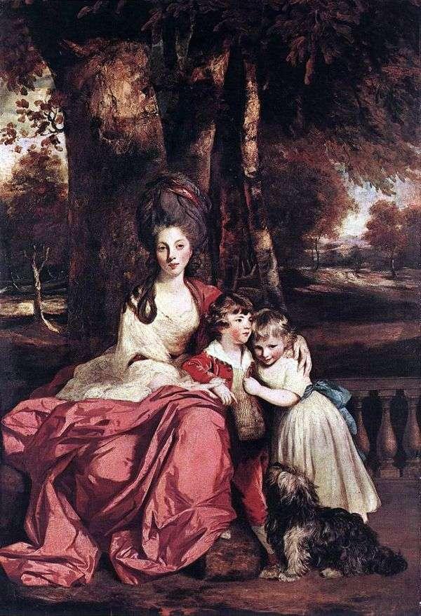 伊丽莎白德尔梅夫人和她的孩子   雷诺兹约书亚